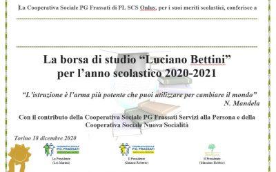 Consegna delle borse di studio Luciano Bettini 2020.2021