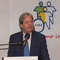 Conferenza stampa del Premier Gentiloni presso la Cooperativa Frassati