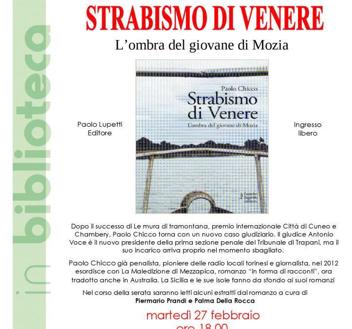 """""""Strabismo di Venere. L'ombra del giovane di Mozia"""""""